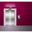 Open and Closed Modern Metal Elevator Doors Hall vector image