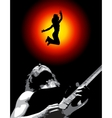 a man and his guitar vector image