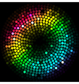 abstract colorful lights cyrcle vector image vector image