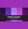 abstract pattern set purple magic seamless vector image vector image