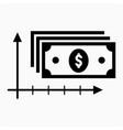 axis money icon vector image vector image