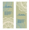 Banners invitation style retro vintage vector image vector image
