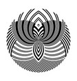 black and white striped circles lines design vector image vector image