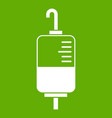blood donation icon green vector image vector image