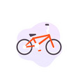 bmx bike icon on white vector image vector image