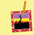 cactus in the picture with a clip vector image vector image