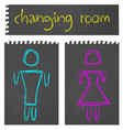 changing room vector image vector image