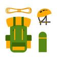 climbing trekking backpack vector image vector image
