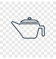 coffee pot concept linear icon isolated on vector image