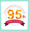 colorful polygonal anniversary logo 3 095
