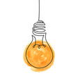 continuous one line drawing hanging shining vector image