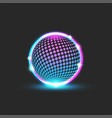cyberpunk style glowing neon ball dotted pattern vector image