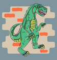 dino monster t shirt print design vector image vector image