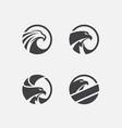 eagle logo pack vector image