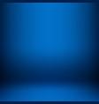 empty blue studio room vector image