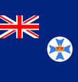 flag of queensland in australia vector image