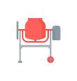 flat a concrete mixer vector image vector image