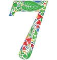 Floral seven vector image
