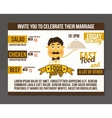 Food party invitation vector image vector image