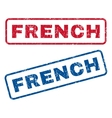 French Rubber Stamps vector image vector image