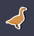 goose paper sticker on stylish background vector image vector image