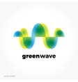 Green sound wave ecological symbol logo Colorful vector image vector image