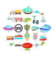 hauling icons set cartoon style vector image vector image