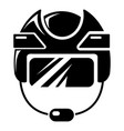 hockey helmet icon simple style vector image vector image