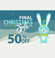 holiday discount christmas on vector image
