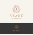 i brand logo vector image