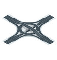 isometric highway junction road and interchange vector image vector image