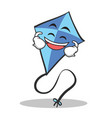 laughing blue kite character cartoon vector image vector image