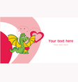 Love dragon greeting card vector | Price: 1 Credit (USD $1)