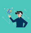 man in virtual reality vector image vector image