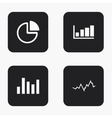 modern graph icons set vector image