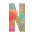 N alphabet vector image