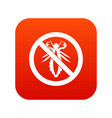 no louse sign icon digital red vector image vector image