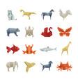 Origami paper animals asian creative art
