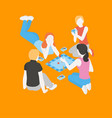 people playing a board game with cards vector image vector image