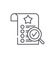 quality control line icon concept quality control vector image vector image