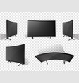 realistic modern television set lcd display vector image