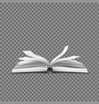 realistic open book with fluttering pages vector image