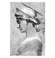 saint cecilia is a bas-relief or sculpture