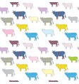 seamless pattern with colored image of vector image vector image
