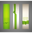 set of banners with green ribbons vector image