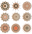Set of mandalas vector image vector image