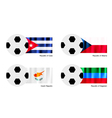 Soccer Ball of Cuba Albania Czech and Dagestan vector image vector image