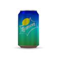 soda aluminium can vector image vector image