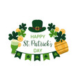 st patricks day greeting banner irish luck concept vector image vector image