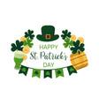 st patricks day greeting banner irish luck concept vector image